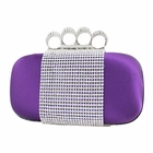 Shimmering Crystals Clutch Purse Purple