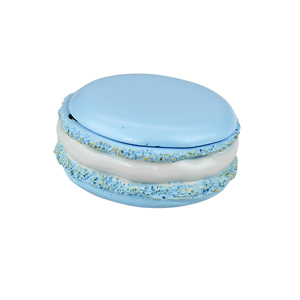 Tasty Looking Macaroon Trinket Box Blue