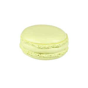 Tasty Looking Macaroon Trinket Box Yellow