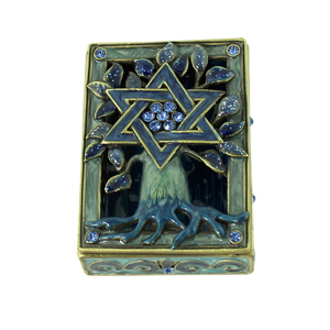 Tree of Life Star of David Trinket Box