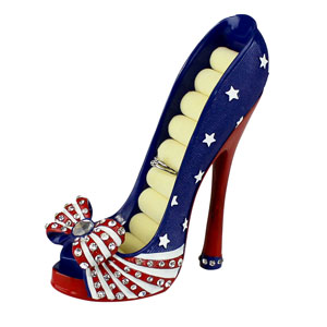US Flag Collection Heeled Shoe Ring Holder