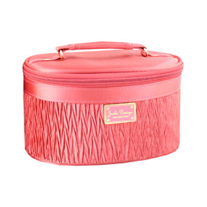 Vintage Allure Beauty Train Case Coral