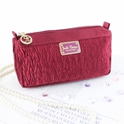 Vintage Allure Compact Cosmetic Bag Burgundy
