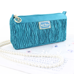 Vintage Allure Compact Cosmetic Bag Turquoise