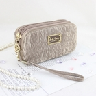 Vintage Allure Cosmetic Bag with Wristlet Beige