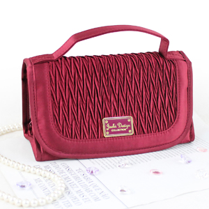 Vintage Allure Roll Up Bag Organizer Burgundy