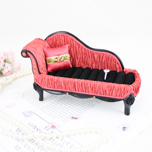 Vintage Lounge Chair Couch Ring Holder Coral