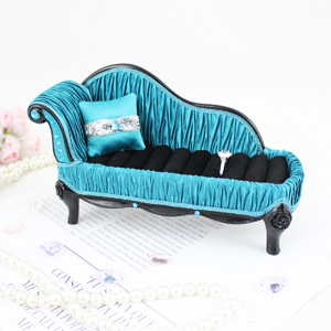 Vintage Lounge Chair Couch Ring Holder Turquoise