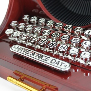 Vintage Typewriter Music Box & Jewelry Box