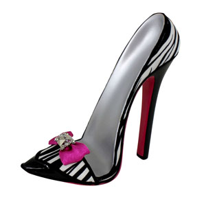 Zebra Heeled Shoe Tablet Holder Fuchsia