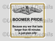 Boomer War Decal