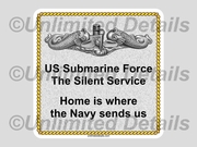 Navy Home Decal