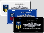 Enlisted Rank & Rating<br>License Plate