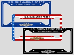 Submarine License Plate Frames