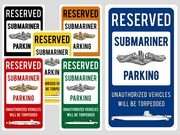 Submariner Parking Sign