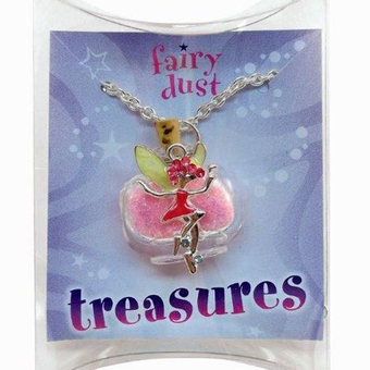 Pink Fairy Silverplated Necklace