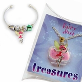 Pink Fairy Bracelet and Necklace SET