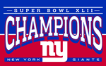 2008 Super Bowl Champions New York Giants Flag 3x5