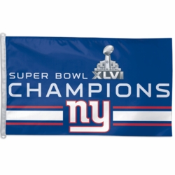 2012 Super Bowl Champions New York Giants Flag 3x5
