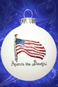 American Flag Christmas Ornament