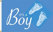 Boy Foot Prints Flag 3x5