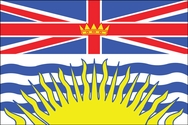 Canadian British Columbia Flag 3x5