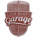 Car Grille Garage Wall Plaque