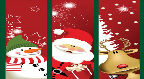 christmas trio flag 3x5