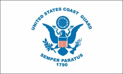 Coast Guard Nylon Flag 4x6