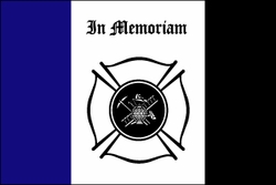 Fireman Mourning Flag