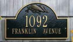 Flag Arch Wall Address Plaque