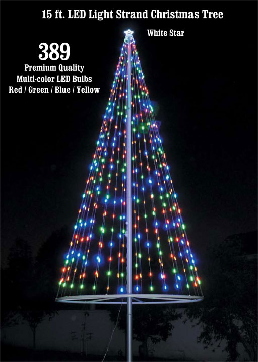 flagpole christmas tree kit multicolor