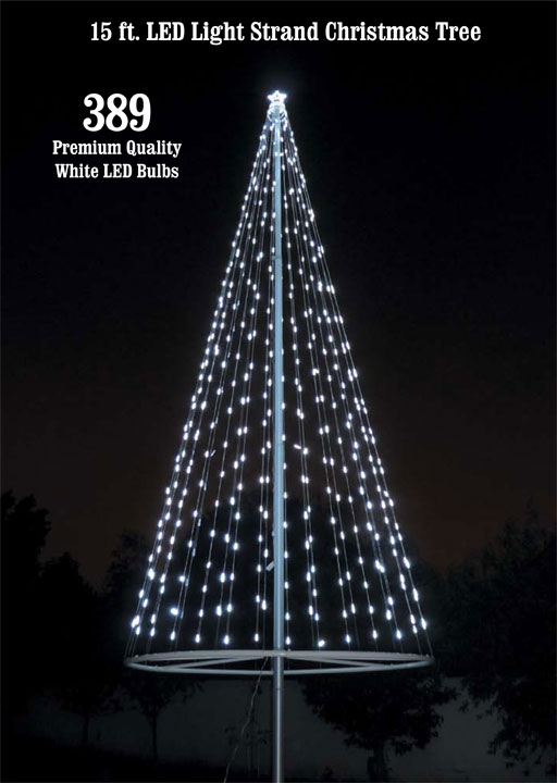 flagpole christmas tree kit white - Christmas Light Tree