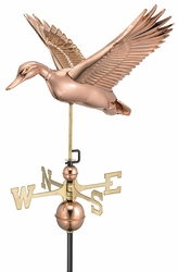 Flying Duck Copper Weathervane