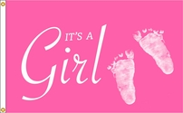 Girl Foot Prints Flag 3x5