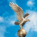 Gold Bronze Eagle Ornament 12 Inch