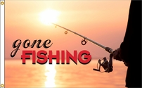 Gone Fishing Flag 3x5