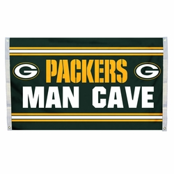 Green Bay Packers Man Cave Flag 3x5