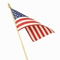 Lightweight Cotton Mounted Flags 4 Inch x 6 Inch