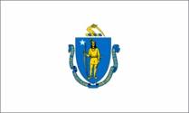 Massachusetts State Flag 2x3