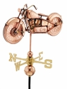 Motorcycle Copper Weathervane