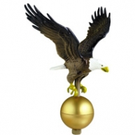Natural Eagle Ornament 12 Inch