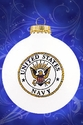 Navy Christmas Ornament