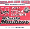 Nebraska Cornhuskers 97 Natl Champs Flag 3x5