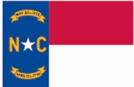 North Carolina State Flag 2x3