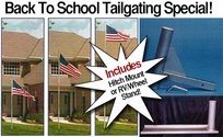 Original Telescoping Flagpole 20 Foot Silver with Choice of Mount!