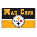 Pittsburgh Steelers Man Cave Flag 3x5