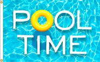 Pool time Flag 3x5