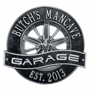 Racing Wheel Garage Wall Plaque