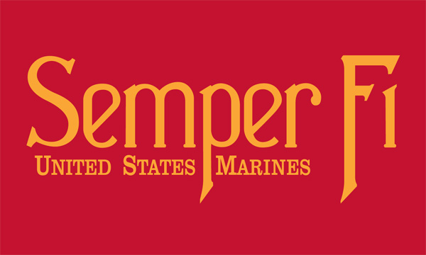 semper fi flag uncommon usa flags nylon military flags